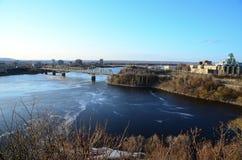 A bridge in Ottawa stock photo