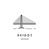 Bridge Outline Logo Vector Royalty Free Stock Images
