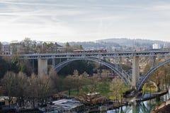 Bridge over Aare river in Bern Stock Photography