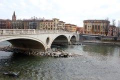 Bridge over Adige river in Verona Royalty Free Stock Image