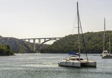 Bridge over the Adriatic,Croatia stock image