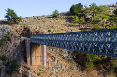Bridge over Aradena Gorge, Crete, Greece Stock Photos