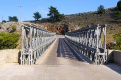 Bridge over Aradena Gorge, Crete, Greece. Famous bridge over Aradena Gorge, Crete, Greece Stock Images