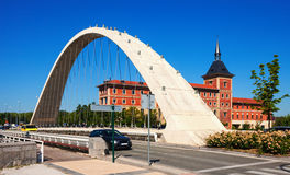 Bridge over Arga river in  Pamplona, Navarre Royalty Free Stock Photo