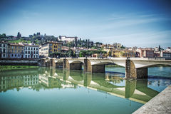 Bridge over Arno river Royalty Free Stock Photography