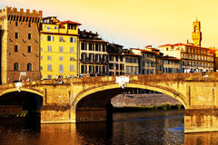 Bridge over Arno River, Florence Royalty Free Stock Photos