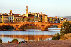 Bridge over Arno River, Florence Stock Image