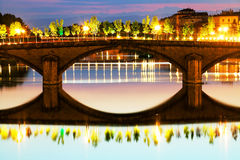 Bridge over Arno River, Florence Stock Photos