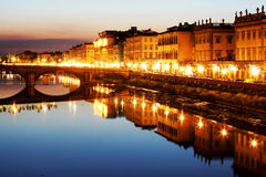 Bridge over Arno River, Florence Royalty Free Stock Images