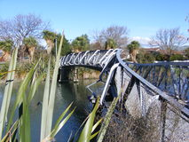 Earthquake Damage Christchurch-The Bridge over Avon River Royalty Free Stock Photography