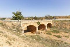 Bridge over Barranco de San Lazaro in Cetina. Town, province of Zaragoza, Aragon, Spain stock images