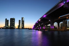 Bridge over the Biscayne Bay, Miami Stock Image