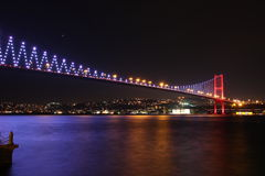 Bridge over the Bosphorous. Istanbul Turkey Stock Photos