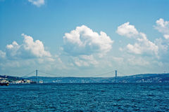 Bridge over bosphorus Royalty Free Stock Image
