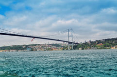 Bridge over Bosphorus, Isatnbul, Turkey. Bridge over Bosphorus in Istanbul, Turkey Royalty Free Stock Photos