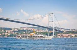 Bridge over the Bosphorus strait in Istanbul, Turkey Stock Image