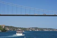 Bridge over Bosporus, Istanbul Stock Photos