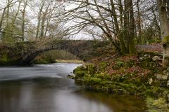 Bridge over the Brathay Stock Image