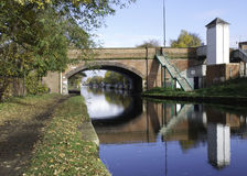 Bridge over Bridgewater Canal. In Sale Cheshire Royalty Free Stock Photography