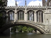Bridge over Cam river. Bridge of Sighs (St John's College royalty free stock photos