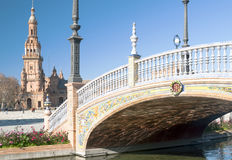 Bridge over canal Royalty Free Stock Photography
