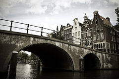 Bridge over canal Stock Photos