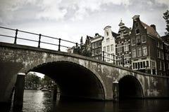 Bridge over canal Stock Photos