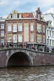 Bridge over canal in Amsterdam Stock Image