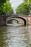 Bridge over canal in Amsterdam Stock Photography