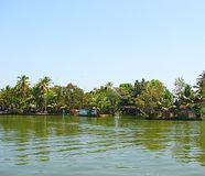 Bridge over a Canal in Backwaters in Kerala, India Stock Photos