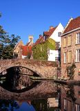 Bridge over canal, Bruges. Stock Image