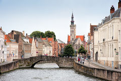 Bridge over the canal in Brugge Royalty Free Stock Image