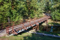 Bridge Over Canal in Fort Bema Park stock photography