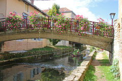 Bridge over a Canal in France Stock Images