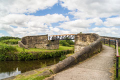 Bridge over the canal. Royalty Free Stock Photos
