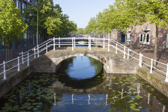 Bridge over canal Royalty Free Stock Image