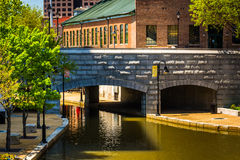 Bridge over the canal in Richmond, Virginia. Stock Images