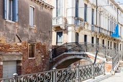 Bridge over canal Rio de San severo in Venice Royalty Free Stock Images