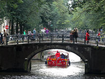 A bridge over the canal in Amsterdam Royalty Free Stock Images