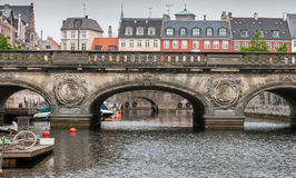 Bridge over canal to Christiansborg Palace in Copenhagen Royalty Free Stock Images