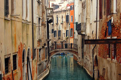 Bridge over canal in Venice Royalty Free Stock Photos