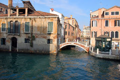 Bridge over canal in Venice Stock Photography