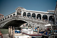 Bridge over a canal in Venice Stock Photos