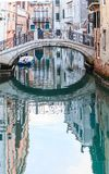 The bridge over a canal in Venice Royalty Free Stock Photo