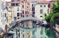 Bridge over canal in Venice Royalty Free Stock Images