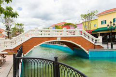 Bridge over the canal Royalty Free Stock Photo