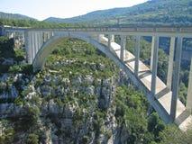 Bridge over the canyon Stock Photo