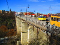 Bridge over canyon, Kamenets Podolskiy, Ukraine Stock Image