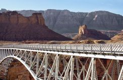 Bridge over a Canyon. Navajo bridge over the Colorado River in Arizona Royalty Free Stock Photography