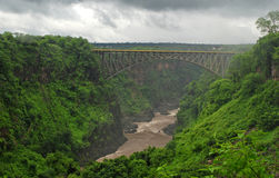 Bridge over canyon(Zambia, South Africa) Royalty Free Stock Image